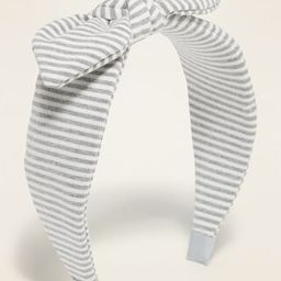 Striped Jersey Bow-Tie Headband for Girls | Old Navy (US)