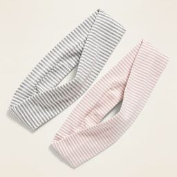 Striped Jersey Headband 2-Pack for Girls | Old Navy (US)