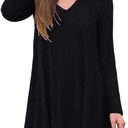 AWULIFFAN Women's Fall Long Sleeve V-Neck T-Shirt Sleepwear Tunic Tops Blouse Shirts   Amazon (US)