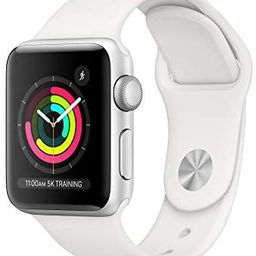 AppleWatch Series3 (GPS, 38mm) - Silver Aluminum Case with White Sport Band   Amazon (US)