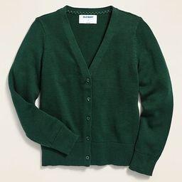 Uniform V-Neck Cardigan for Girls   Old Navy (US)