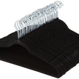 AmazonBasics Slim, Velvet, Non-Slip Clothes Suit Hangers, Black/Silver - Pack of 50   Amazon (US)