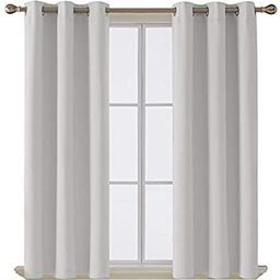 Deconovo Room Darkening Thermal Insulated Blackout Grommet Window Curtain Panel for Living Room, ...   Amazon (US)