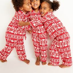 Unisex Lightweight Flannel Pajama Set for Toddler | Old Navy (US)