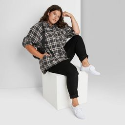 Women's Plaid Long Sleeve Oversized Button-Down Shirt - Wild Fable™   Target