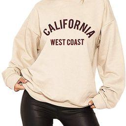 HeSaYep Women's Oversized Sweatshirt Crewneck Boyfriend Long Sleeve Pullover Letter Graphic Jumpe...   Amazon (US)