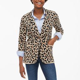 Leopard sweater-blazer   J.Crew Factory