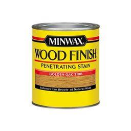 Minwax Wood Finish Oil-Based Stain Golden Oak Oil-Based Interior Stain (Quart) | Lowe's