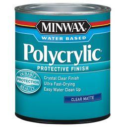 Minwax Matte Water-Based Polyurethane (1-Quart) Lowes.com | Lowe's