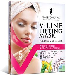 V Line Lifting Mask Chin Up Patch Double Chin Reducer Chin Mask V Up Contour Tightening Firming F...   Amazon (US)