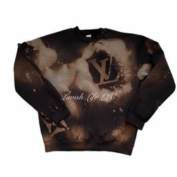 LV inspired bleached Sweatshirt | Etsy (US)