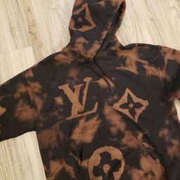 Louis Vuitton inspired bleached tie dye sweatshirt | Etsy (US)