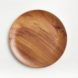 Wood Grain Melamine Dinner Plate   Crate & Barrel