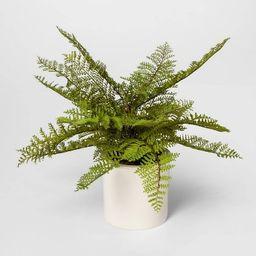 "15"" x 14.5"" Artificial Fern Arrangement in Ceramic Pot White - Threshold™ | Target"