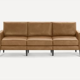 The Nomad Leather Sofa: Customizable, Modular Furniture   Burrow   Burrow