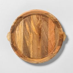 Oversized Carved Wood Tray - Hearth & Hand™ with Magnolia   Target
