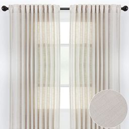 Chanasya 2-Panel Soft Textured Semi Sheer Curtains for Window Living Room Bedroom Kitchen Patio O...   Amazon (US)