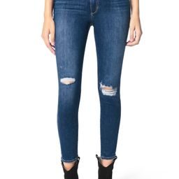 The Charlie High Waist Ripped Ankle Skinny Jeans | Nordstrom
