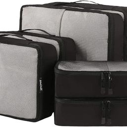 Bagail 6 Set Packing Cubes,3 Various Sizes Travel Luggage Packing Organizers | Amazon (US)