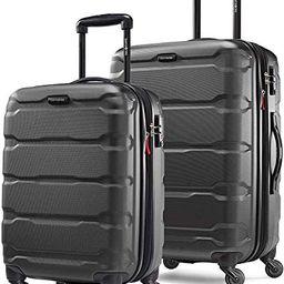 Samsonite Omni PC Hardside Expandable Luggage with Spinner Wheels, Black, 2-Piece Set (20/24) | Amazon (US)