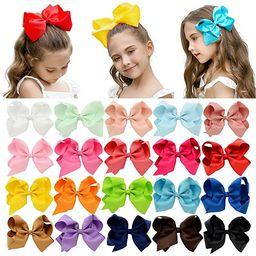 "DEEKA 20 PCS Multi-colored 6"" Hand-made Grosgrain Ribbon Hair Bow Alligator Clips Hair Accessorie...   Amazon (US)"