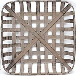 "Silvercloud Trading Co. Tobacco Basket, Farmhouse Decor, Med 21"" Square | Amazon (US)"