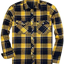 Amazon Essentials Men's Regular-Fit Long-Sleeve Plaid Flannel Shirt   Amazon (US)