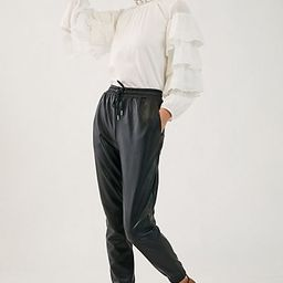 Faisa Faux Leather Joggers | Anthropologie (US)