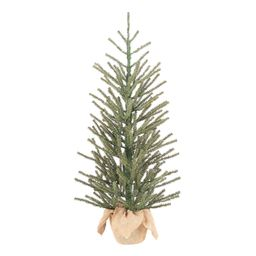 """Holiday Time Green Fir Tree with Burlap Base Christmas Decoration, 36"""" 