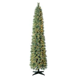 Holiday Time Pre-Lit Shelton Cashmere Fir Artificial Christmas Tree, 7', Mini Clear Lights | Walmart (US)
