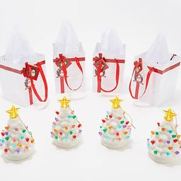 Mr. Christmas Set of 4 Lit Nostalgic Tree Ornaments with Gift Bags | QVC