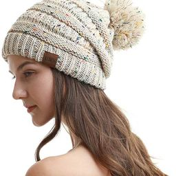 REDESS Women Winter Pompom Beanie Hat with Warm Fleece Lined, Thick Slouchy Snow Knit Chunky Bagg... | Amazon (US)