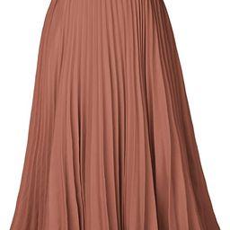 Kate Kasin Women's High Waist Pleated A-Line Swing Skirt KK659 | Amazon (US)