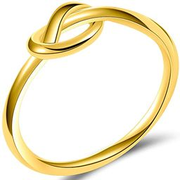 Jude Jewelers Size 3-13 Stainless Steel Simple Love Knot Celtic Promise Anniversary Statement Rin... | Amazon (US)