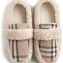 ZIZOR Women's Memory Foam Cozy Fuzzy Fleece Comfy Slippers, Ladies Indoor or Outdoor House Shoes   Amazon (US)