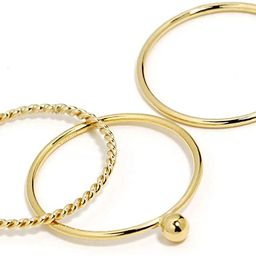 BENIQUE Gold Rings for Women, Dainty Stackable Rings for Women, 1mm Very Thin Band, 14K Gold Fill... | Amazon (US)