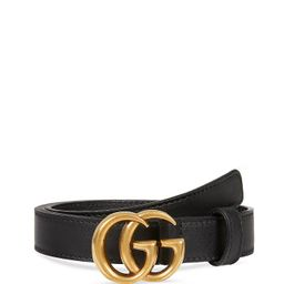 Women's Leather Belt with Double G Buckle   Bloomingdale's (US)