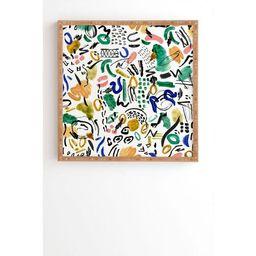 """20"""" x 20"""" Marta Barragan Camara Brushstrokes Framed Wall Art - Deny Designs   Target"""