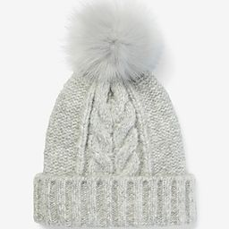 Cable Knit Pom Beanie | Express