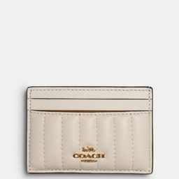 card case with linear quilting | Coach Outlet