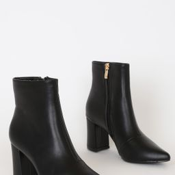 Sarai Black Pointed-Toe Ankle Booties   Lulus (US)