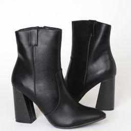 Ari Black Pointed-Toe Mid-Calf Boots   Lulus (US)
