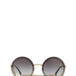 Chanel Round Frame Chain Sunglasses | Cettire Global