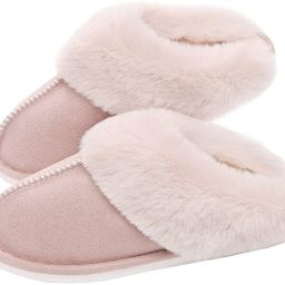 SOSUSHOE Womens Slippers Memory Foam Fluffy Fur Soft Slippers Warm House Shoes Indoor Outdoor Win...   Amazon (US)