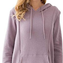 Bearsland Women's Maternity Sweater Clothes Nursing Sweatshirt Breastfeeding Hoodie with Pockets   Amazon (US)