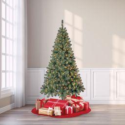 Holiday Time Pre-Lit Madison Pine Artificial Christmas Tree, 6.5', Mini Clear Lights | Walmart (US)