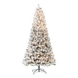 Holiday Time Pre-Lit Flocked Frisco Pine Christmas Tree, Clear Lights, 7.5' | Walmart (US)