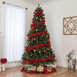 Best Choice Products 7.5ft Pre-Lit Spruce Hinged Artificial Christmas Tree w/ 550 Incandescent Li... | Walmart (US)