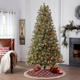 Holiday Time Pre-Lit Redland Spruce Artificial Christmas Tree, 7.5', Clear | Walmart (US)