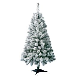 Holiday Time Pre-Lit Greenfield Pine Flocked Artificial Christmas Tree, 4', Mini Clear Lights | Walmart (US)